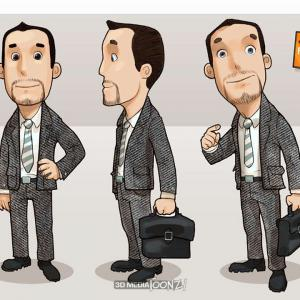 3DMedia Toonz! - Consip character design